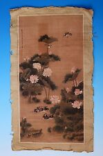 Very Rare Old Chinese Hand Painting Lotus and Birds Marked ShenQuan PD067