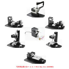 DIY 6 IN 1 Metal Bow-arm bow-arm Lathe Milling Drilling Wood Diy Machine Kit