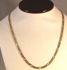 "14 k Solid yellow gold figaro Chain Necklace 20.5"" long 17.96 grams 4.5 mm Wide"