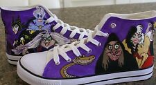 DISNEY VILLAINS inspired  CUSTOM HAND PAINTED HIGH TOPS MADE TO ORDER