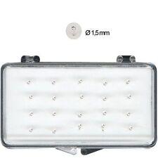 1 Orecchini Piercing Naso Nasini Micro Argento 925 cristallo Bianco 1,5 mm