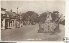 Ludgershall Village Yates' stores Market Cross & Castle St. 1936 Real Photograph