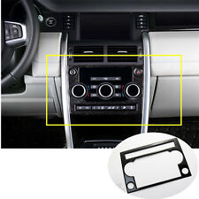 Stainless Console CD Panel Cover For Land Rover Discovery Sport(15-16)Black
