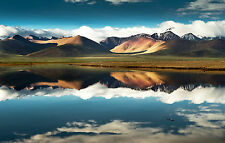 Framed Print - Lake at the Foot of a Mountain Range (Picture Landscape Art)