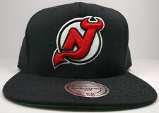 New Jersey Devils Solid Wool Current Logo Snapback Hat Cap NHL