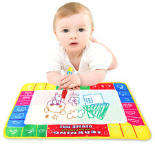 Drawing Painting Writing Mat & Magic Pen Doodle Toy Kids Baby Nontoxic