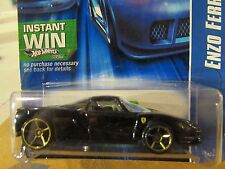 Hot Wheels Enzo Ferrari #194 Black Instant Win Card