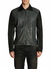 DIESEL BLACK GOLD LARCOTY LEATHER JACKET SIZE 48 (M) 100% AUTHENTIC