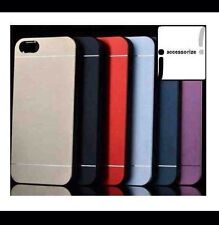 IPHONE CASES 5/5s Ultra Slim Ion Brushed Aluminium Metal Protective 6 COLOURS