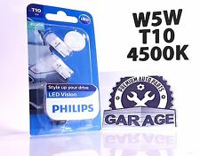 Philips W5W T10 LED Vision Interior 127914000KB2 Pure White 4500K 12V w2.1x9.5d