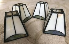 Set Of 4 Tiffany Style Stain Glass Mission Track Lighting Glass Shades