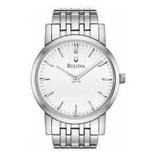 Bulova Men's 96A115 Silver White Dial Bracelet Watch