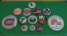 Hockey NHL lot of 13 pinback Jets Nordiques Canadiens Red Wings Maple Leafs