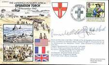 JS50/42/12 WII WW2 Operation Torch North Africa Landings RAF cover signed
