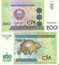 Uzbekistan 200 Som Pick 80 1997 Ex. Fine or better