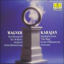 "WAGNER/KARAJAN: ""HIGHLIGHTS FROM 'THE RING'"" (CD, Oct-1989, Deutsche Grammophon)"