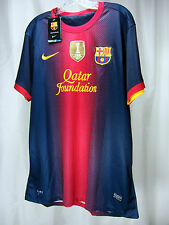 NWT Nike FC Barcelona Messi Home Jersey 2012/13 FIFA Champions Patch Size XL
