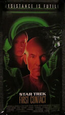 """STAR TREK 1997 DOUBLE SIDED """"FIRST CONTACT"""" LAS VEGAS HILTON POSTER, NEW, ROLLED"""