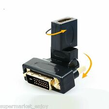 swivel Angle DVI 24+1 male to HDMI female M/F Adapter Converter for HDTV DVD PC