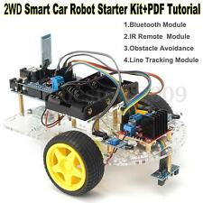 2WD Robot Car Kit UNO R3 Android Bluetooth Control L298N TP4056 HC06 for Arduino