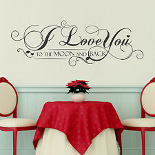 Paper Love Family Home Quote Decoration Decal Mural Wall Stickers 100cm x 35cm