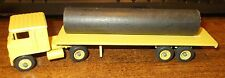 Yellow 32' Flatbed with Pipe Load Winross Truck