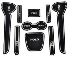 631-VW Volkswagen POLO INTERIOR MAT MATS ANTI SLIP HOLDER SILICONE Set 9pc WHITE