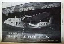 1941 WW2 Short 'EMPIRE' Flying-Boat Advert #1 - Wartime Photo Print Ad
