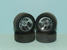 GMP 1/18 Wheels & Tyre Set Crager Soft 8 Chrome Great for diorama or rebuilds