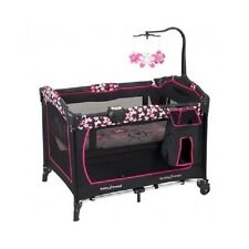 Musical Playpen w/ Bassinet Baby Trend Playard Nursery Center Portable Crib