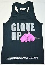 New - FWC Womens Training Singlet - Glove UP - Fighters Worldwide Clothing