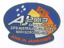 AJ2013 - AUSTRALIA SCOUTS JAMBOREE - OFFICIAL JOIN IN JAMBOREE SCOUT PATCH