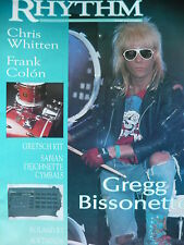 RHYTHM MAGAZINE NOV 1989 - GREGG BISSONETTE - CHRIS WITTEN - FRANK COLON