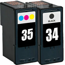 34 Black & 35 Color Ink  Combo For Lexmark P915 P4330 P4350 P6250 P6350 P83