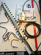 OPEN BOX WiFi Antenna 18dBi YAGI + ALFA G Long Range Booster GET FREE INTERNET