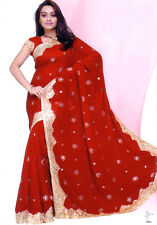 Mariage Bollywood nuptiale traditionnelle Parti Wear Sari Saree Belly Dance Jupe