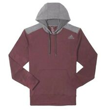 ADIDAS Mens Ultimate Pullover Hoodie Tech Sweatshirt, burgundy/Grey, Size 2XL