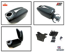 Armrest arm BLACK for Mazda 2 3 Mini Fiat Panda 500 + front & back cup holder