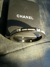 Chanel bracelet lacquer rare limited edition carved LETTERS COCO CHANEL PARIS