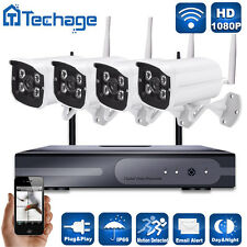 4pcs 2.0MP HD Wifi Cameras 4CH Wireless 1080P NVR CCTV System Home Security