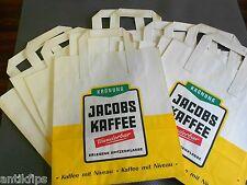 Jakobs Kaffee Krönung 10 alte Einkaufstaschen aus Papier 70er Jahre