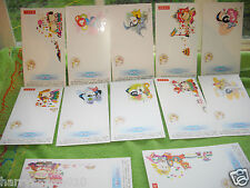 China 1997 year of Bull pre stamped postcards lottery cards mint 12 cards