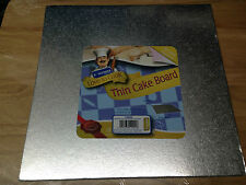 """Kingfisher 10""""/25cm Thin Square Cake Board Foil Covered & Wrapped. Home Baking."""