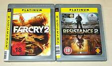 2 PLAYSTATION 3 PS3 SPIELE SAMMLUNG FAR CRY 2 & RESISTANCE 2 SHOOTER