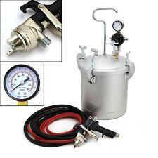 "2-1/4"" Air Gun Tank Pot Spraying Pressure Pot Gallon Hose Gauge Set Tool Paint"