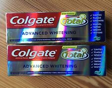 2 Colgate Total Advanced Whitening Toothpaste Gel 4.0 oz each tube Exp 01/2018