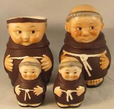 Goebel Friar Tuck Monk lot of 4 TMK 2 Full Bee - Creamer, Sugar, salt , & pepper