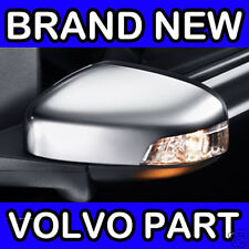 Volvo V70 (08-11) (Matt Chrome) Left Hand Wing Door Mirror Back Cover / Casing