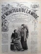 LE MONITEUR DE LA MODE 1891 N 1 TOILETTES DE RECEPTION ET DE VISITES.