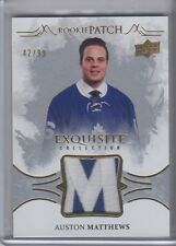 16-17 UD BLACK DIAMOND EXQUISITE AUSTON MATTHEWS ROOKIE PATCH RC LEAFS SP /99